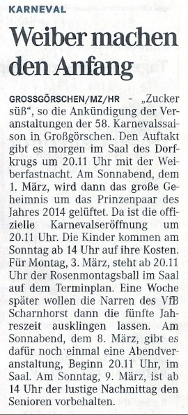 Mitteldeutsche Zeitung 26.02.2013