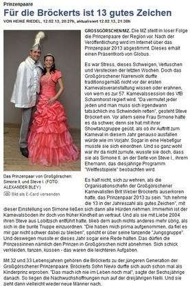 Mitteldeutsche Zeitung 13.02.2013
